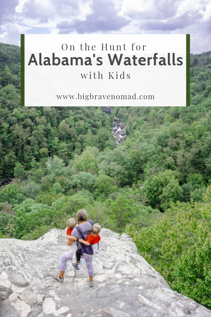 Alabama is home to many waterfalls and Family friendly hikes. Pack up your toddlers & kids! Alabama needs to be at the top of your long weekend list. #bigbravenomad #familytravel