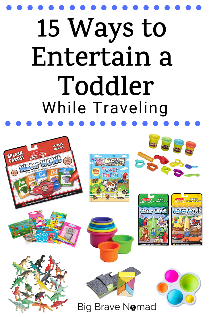 Get ready to travel with your Toddler! We have compiled the complete list of Toddler Entertainment for Traveling. Travel easier and with peace of m ind as you NAVIGATE the world with these helpful products! #travelwithkids #familytravel