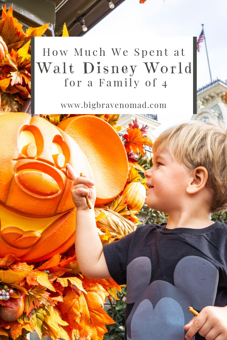Disney world is on a lot of parent's travel lists. How much does it cost for a family of four? We have broken down how much our 5 day, 3 night trip to disney world cost us. If you're debating bringing toddlers along, don't! They loved the entire thing!! #familytravel #disneyworld #disneytoddlers