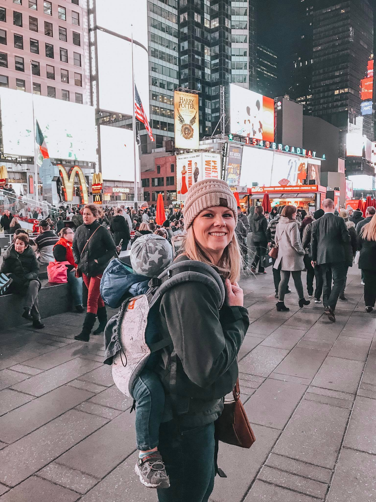 Times Square is a busy, but iconic place. I loved experiencing the bright lights and energy!