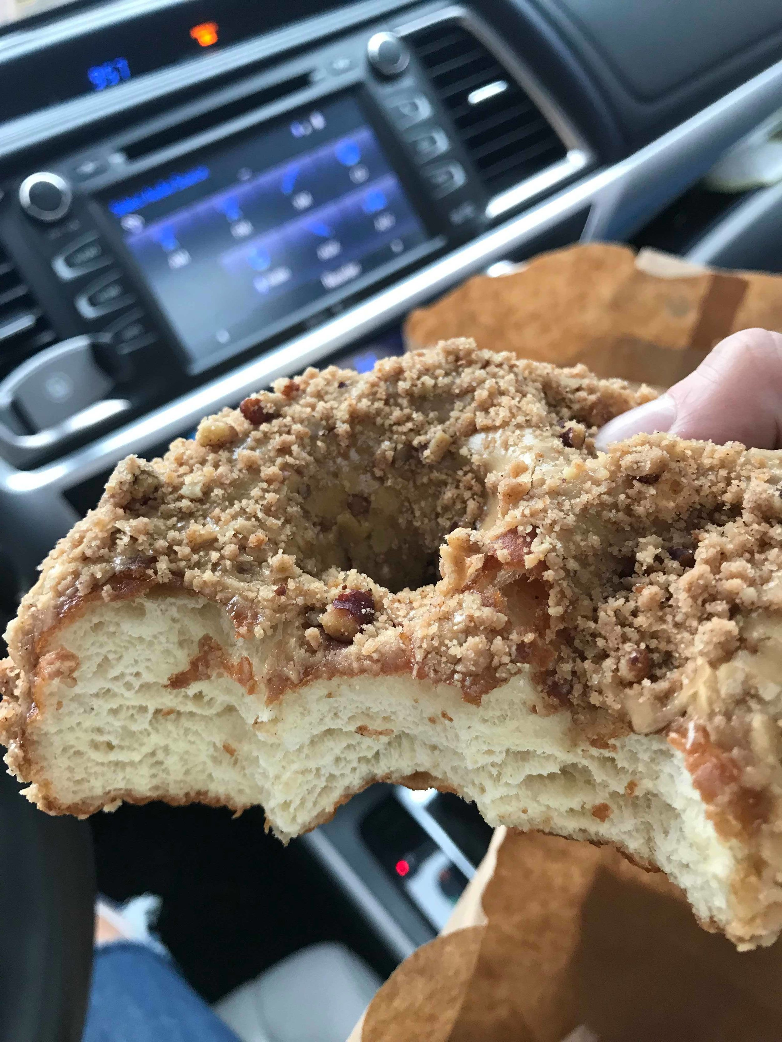 One of the biggest and most delicious donuts you will ever ever ever eat!