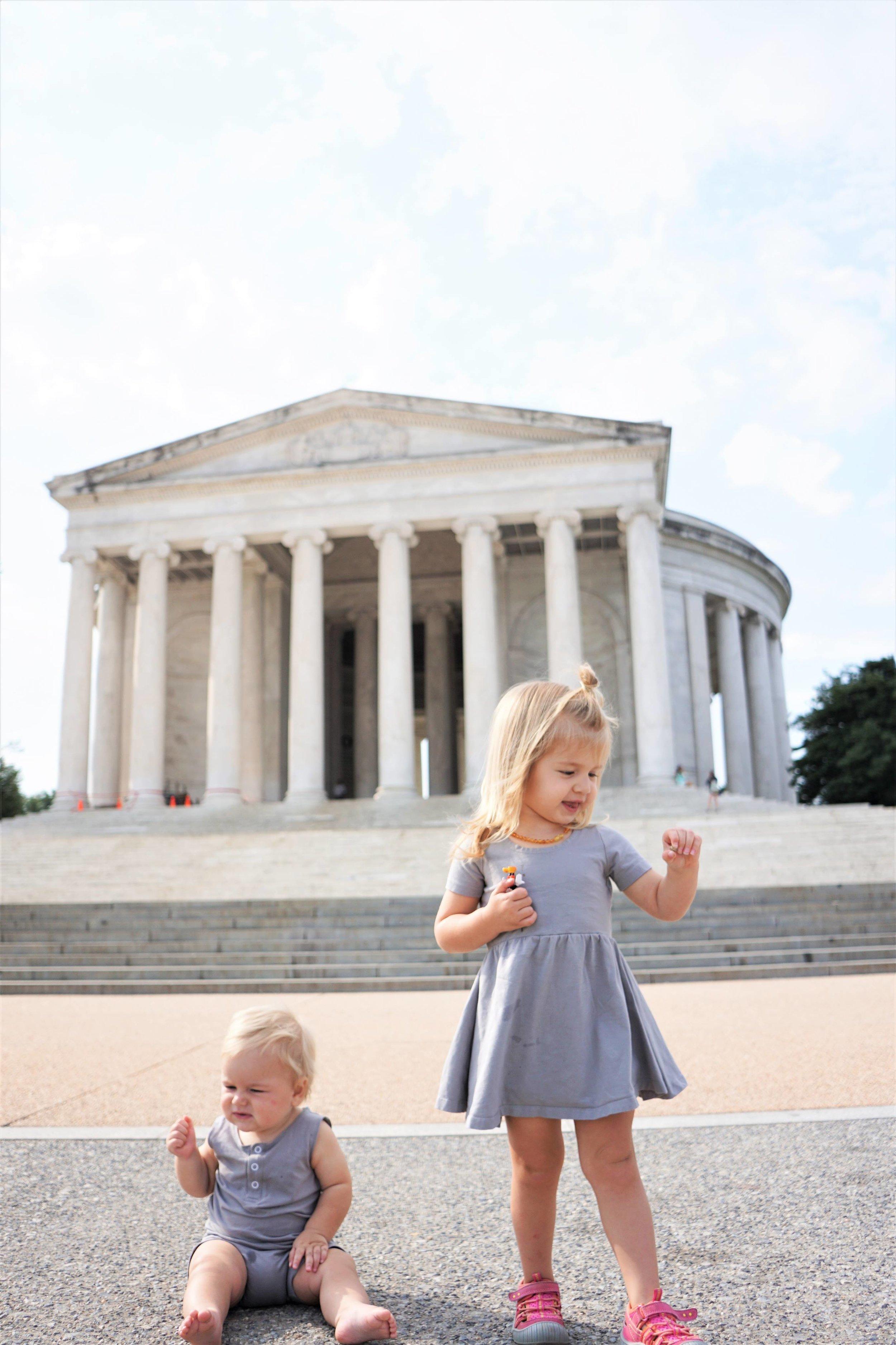 The Kids at the Thomas Jefferson Memorial