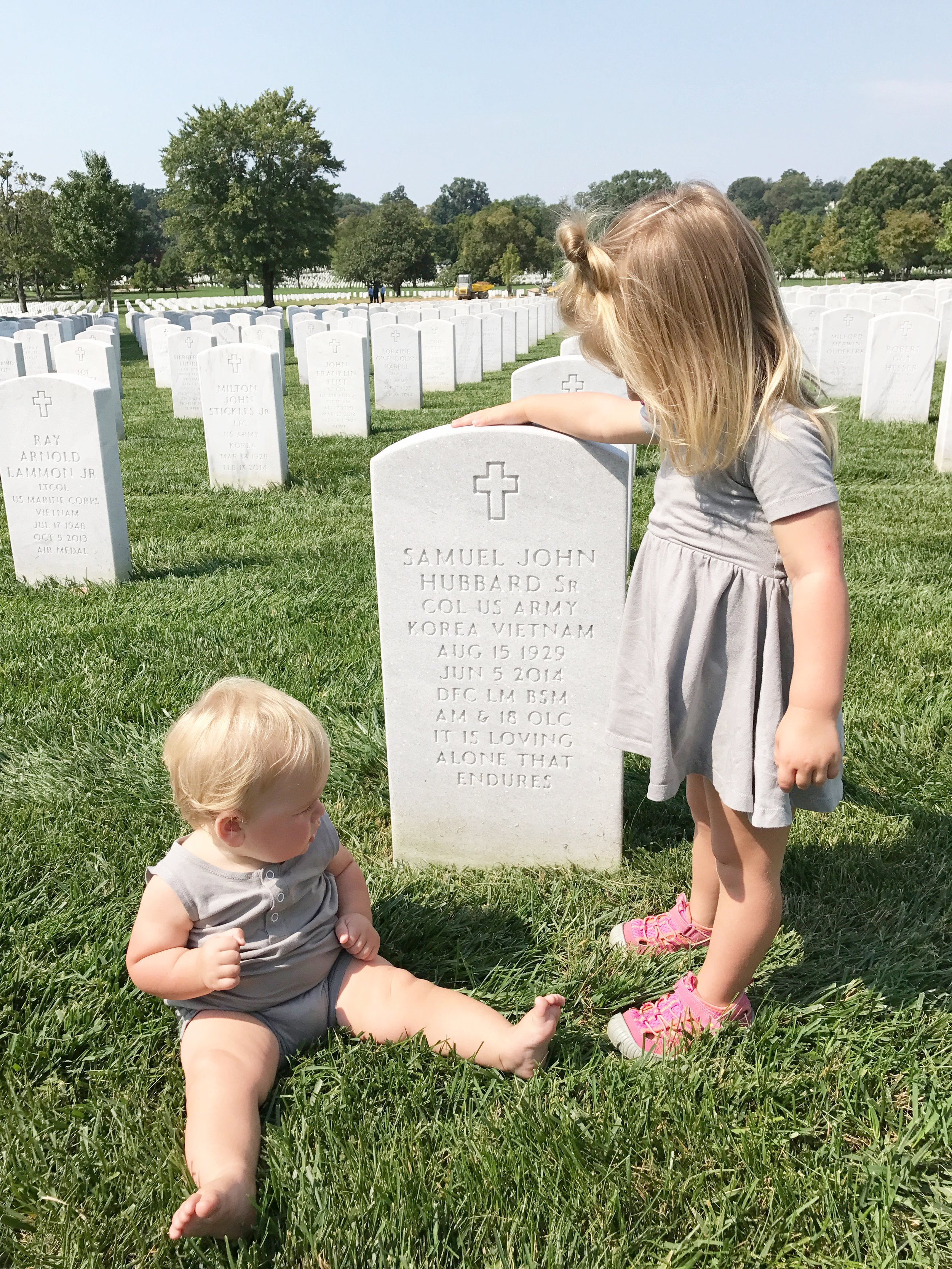 The Kids in Arlington National cemetary sept 2017
