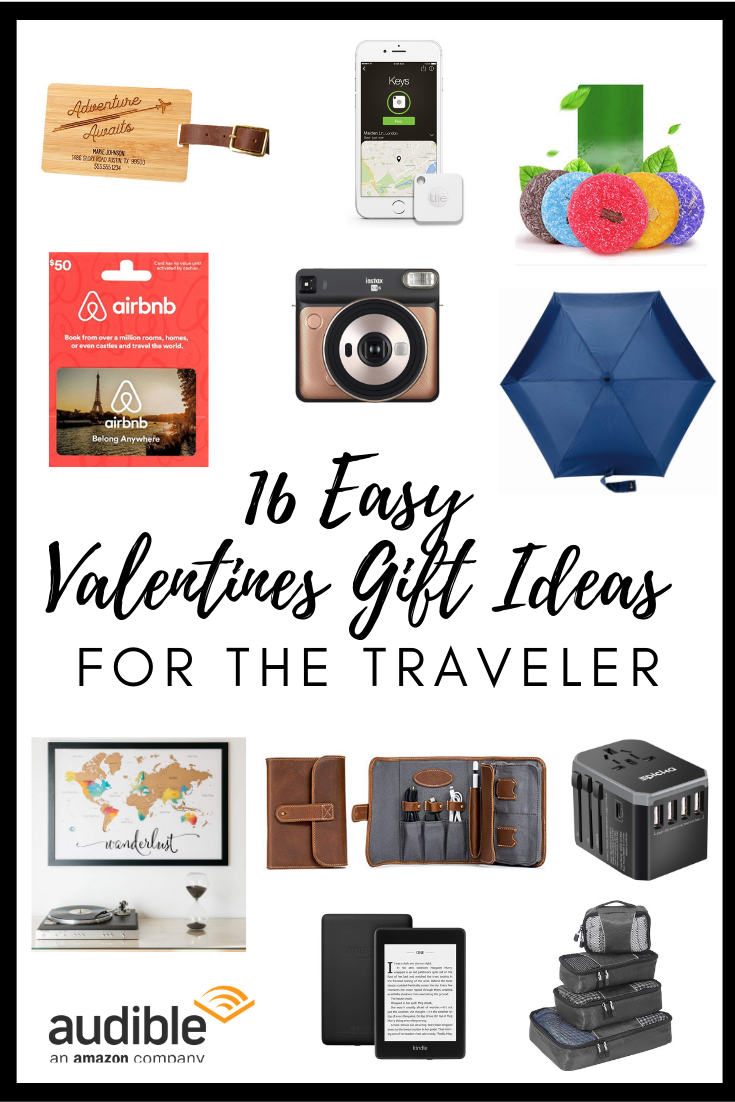 Valentines Day is right around the corner! Don't miss out on the chance to give your travel lover exactly what they want; travel gear! I've put together a list of 16 easy travel themed gifts you can win your friends, loved ones or partners over with. Have a teenager who loves travel? Have a wife who needs an anniversary trip? Have parents who are celebrating an empty nest with travel? Everyone is covered. #valentinesday #travellover #travelgiftguide