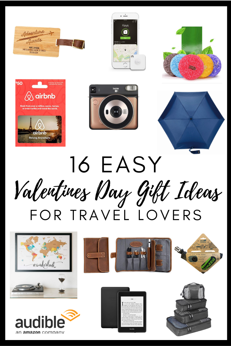 https://amzn.to/2WeaxtValentines Day is right around the corner! Don't miss out on the chance to give your travel lover exactly what they want; travel gear! I've put together a list of 16 easy travel themed gifts you can win your friends, loved ones or partners over with. Have a teenager who loves travel? Have a wife who needs an anniversary trip? Have parents who are celebrating an empty nest with travel? Everyone is covered. #valentinesday #travellover #travelgiftguide