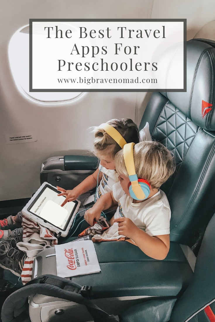 We've compiled the best travel apps for toddlers and preschoolers. From matching to spelling, writing letters and recognizing words; these apps teach it all. #familytravel #toddlerlife #toddlertravel