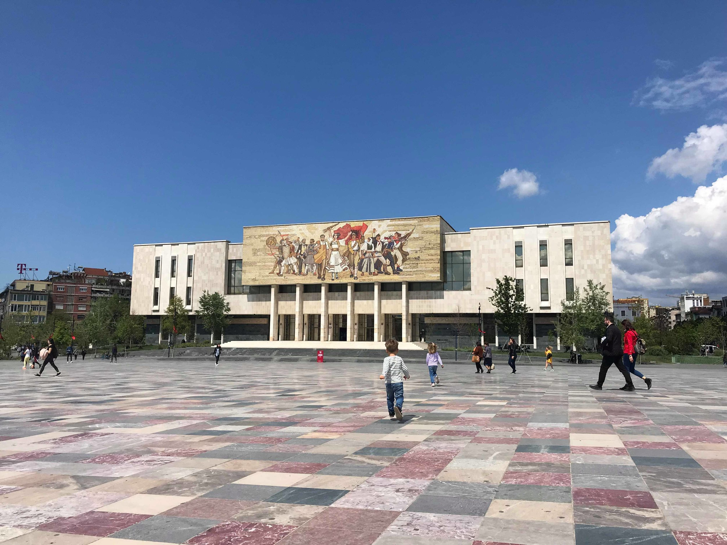 Skanderbeg Square is gigantic and free of car traffic.