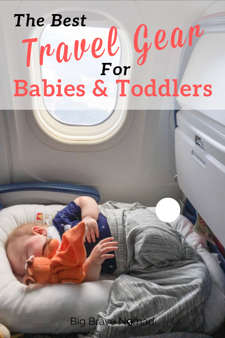 Get ready to travel with your baby or toddler or both! We have compiled the complete list of baby essentials when hitting the road. Travel easier and with peace of m ind as you NAVIGATE the world with these helpful products! #travelwithkids #familytravel