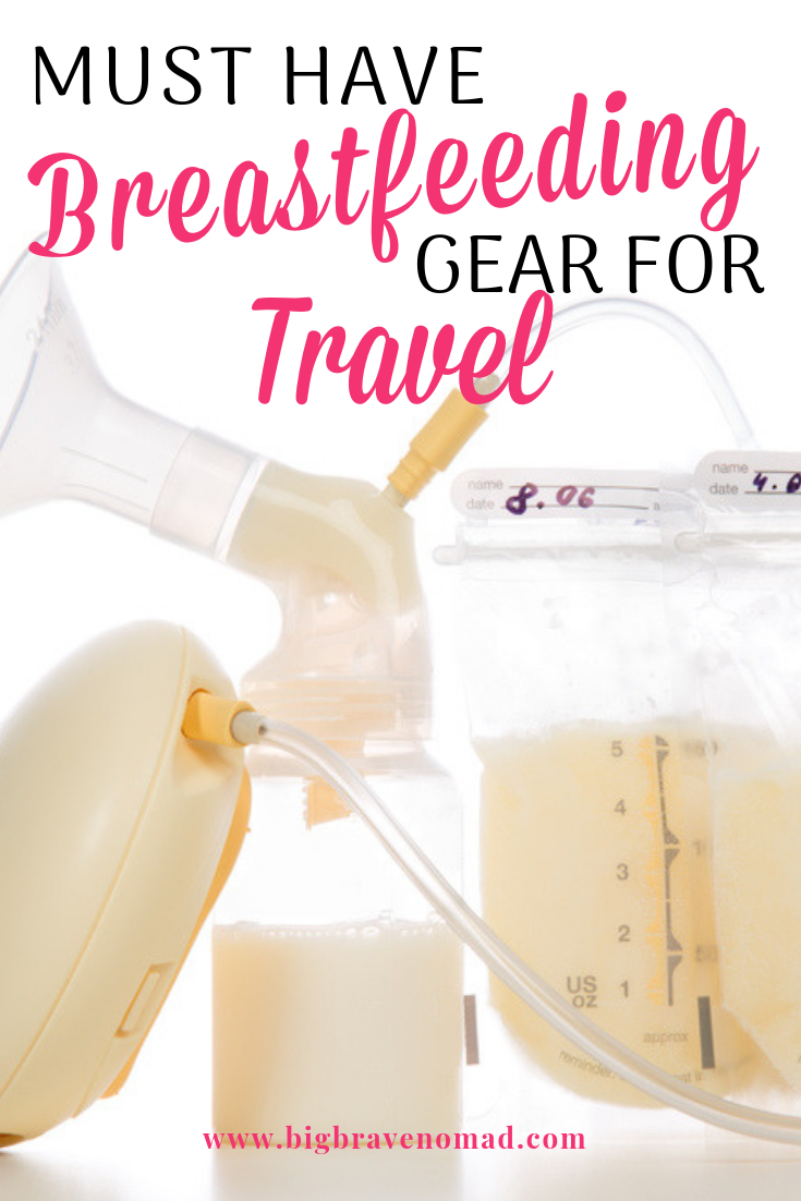 Don't stress about your breastfeeding routine when you travel. I've put together the best gear for breastfeeding moms who travel. This list will help keep baby in a comfortable postions, protect mom's privacy, allow for pumping and even easier access to the breasts for more discreet and easier nursing sessions. #nursingmom #breastfeeding #normalizebreastfeeding