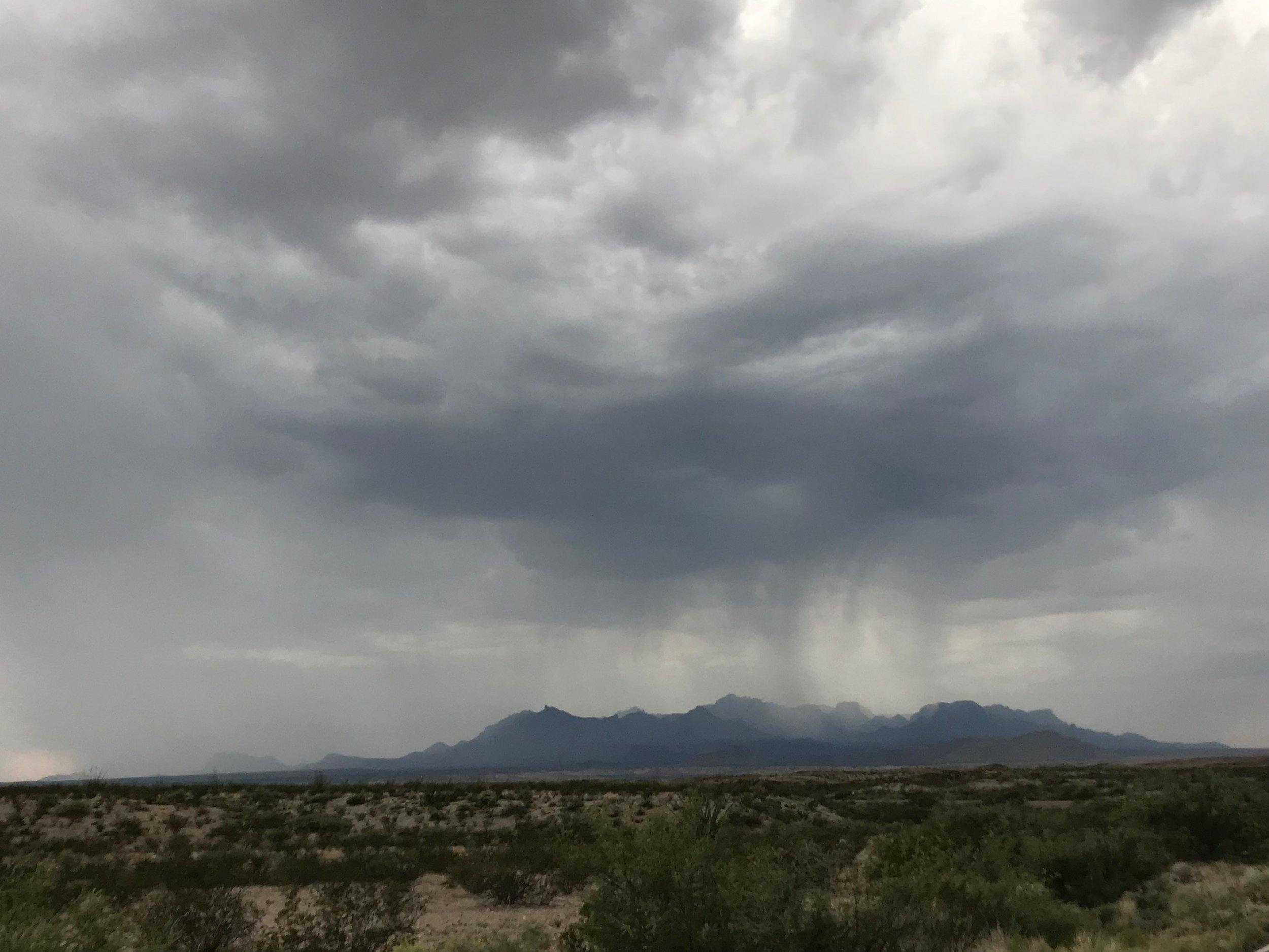 We were in Big Bend in June and it was rainy the entire time but one day. HOWEVER, the weather was a mild 68-70 degrees F.