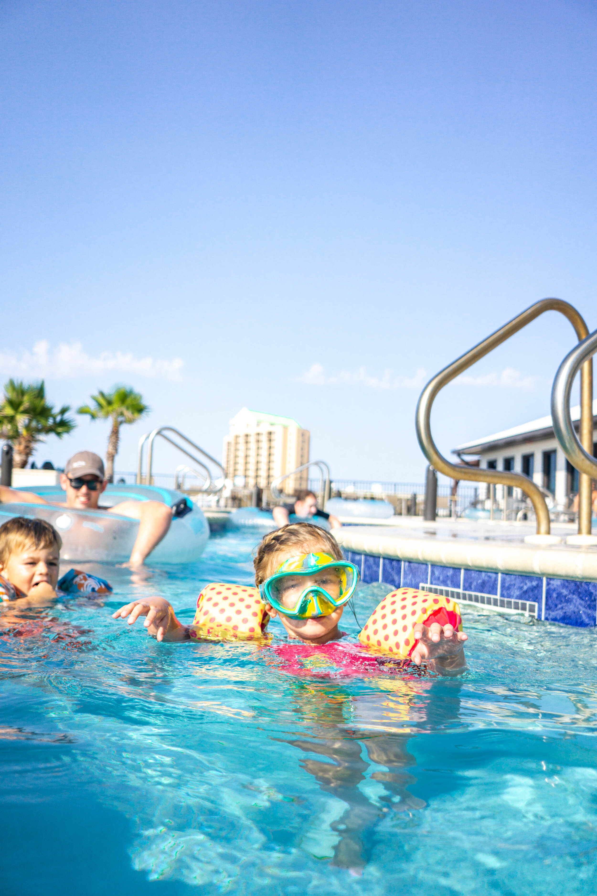 Swimming in the Pool at Spring Hill Suites in Navarre Beach