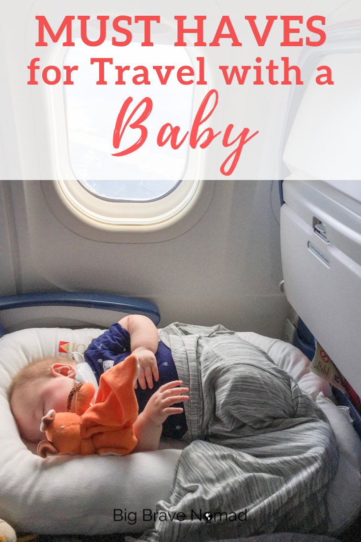 An easy guide to the baby travel essentials. Traveling with a baby doesn't need to be overwhelming, so the next time you travel with a baby, be sure to snag some items that will make your trip easier. Our guide will walk you through what you need when traveling with a baby. #travelwithbaby #babyravelessentials