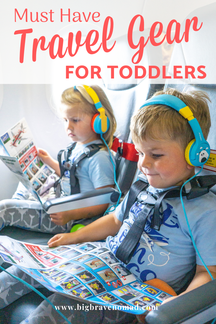 An easy guide to the toddler travel essentials. Traveling with toddlers doesn't need to be overwhelming, so the next time you travel with a toddler, be sure to snag some items that will make your trip easier. Our guide will walk you through what you need when traveling with a toddler. #travelwithtoddler #toddlertravelessentials