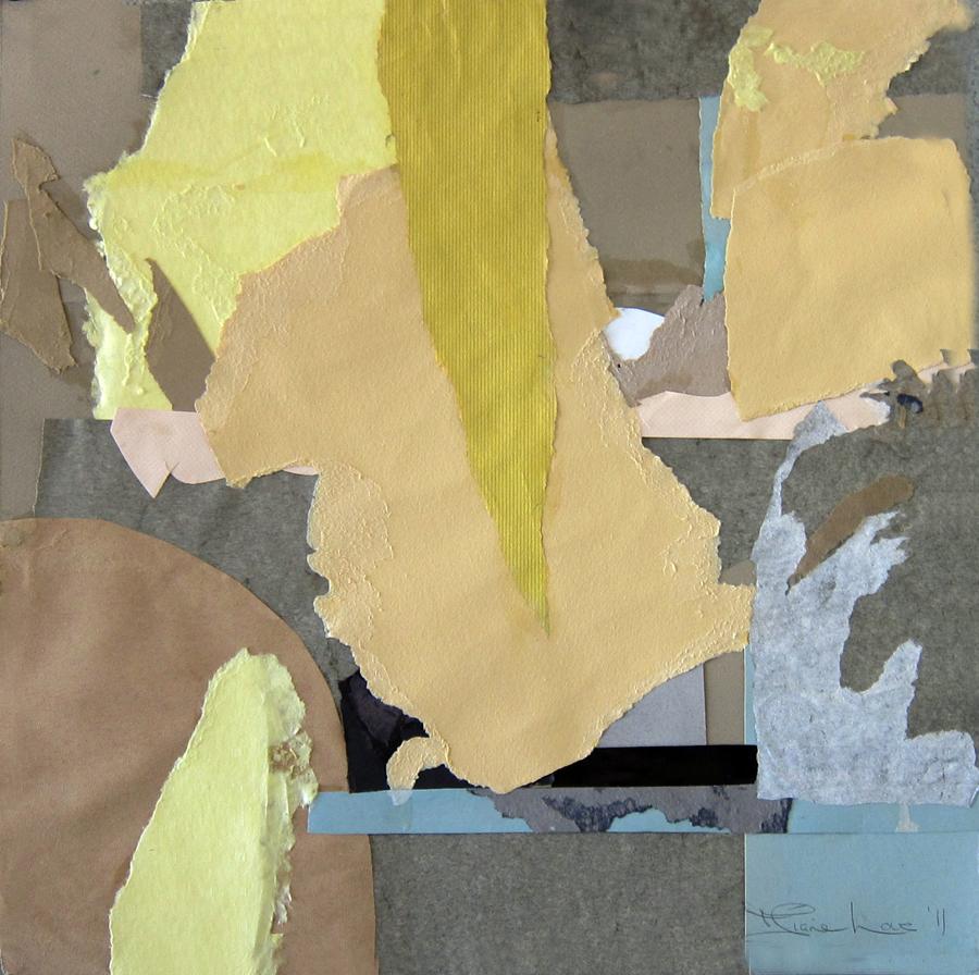 YELLOW INTRUSION-collage- 20 x 20 - 2011