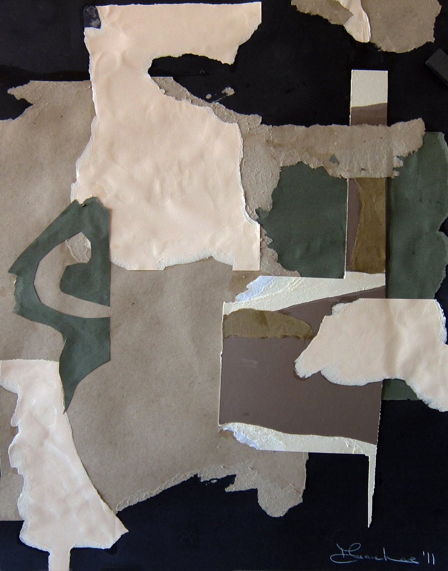 SLATE FOREST- collage- 28 x 22- 2011
