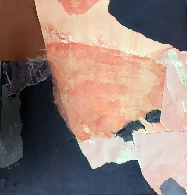 OCHRE ONE- mixed media collage- 11.50 x 11- 2016