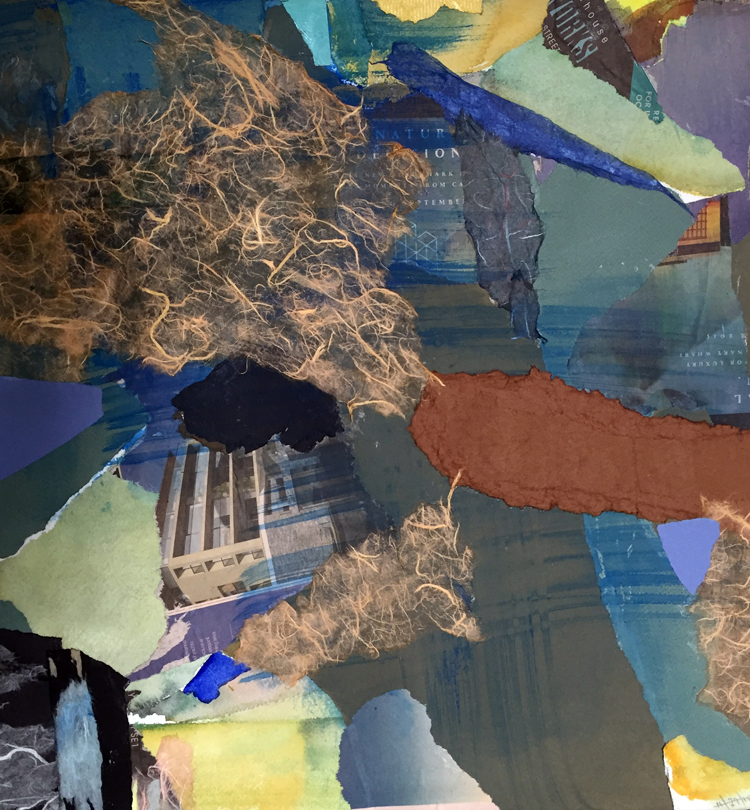 NUCLEUS- mixed media collage-19.5 x 20.5- 2016