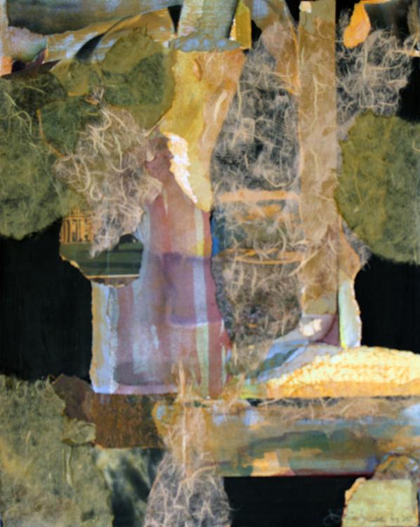NIGHT TRAFFIC- collage- 20 x 16- 2015