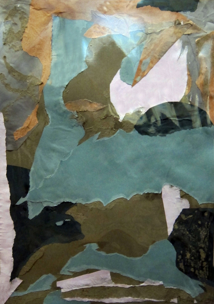 MERGER GREEN- collage- 28 x20- 2011
