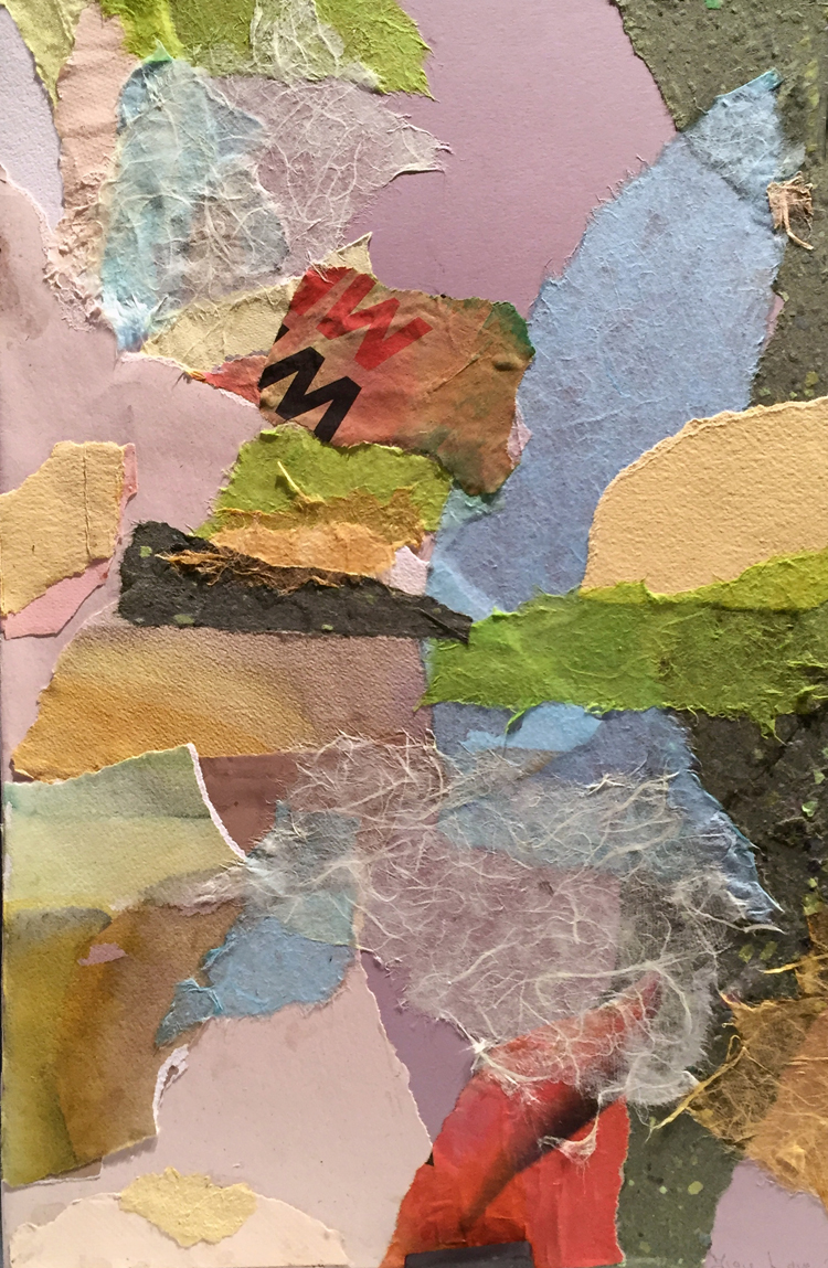 LIPS- mixed media collage- 19.75 x 13- 2016