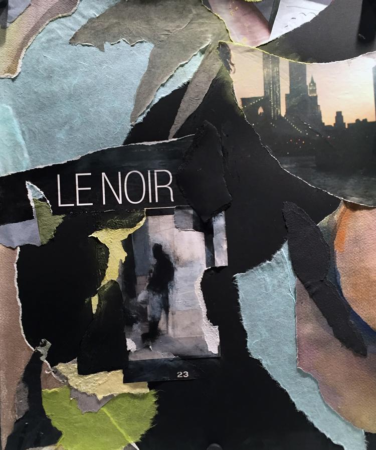 LE NOIR- mixed media collage- 20 x 16.50- 2016