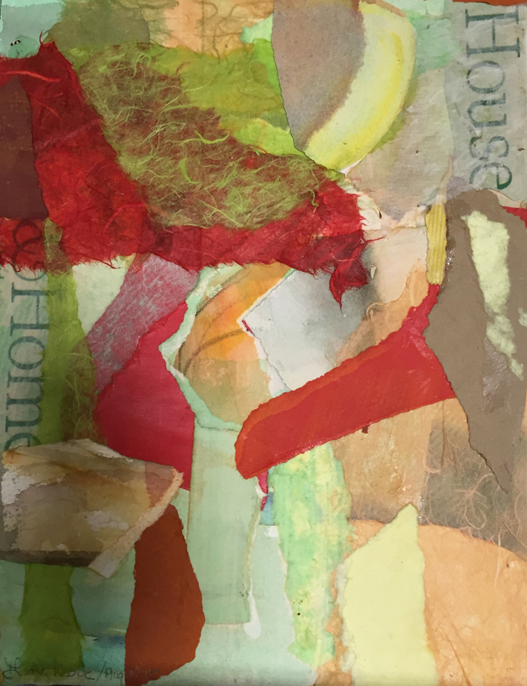 HOUSE HOME- mixed media collage- 13.25 x 10.25- 2015