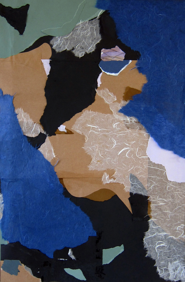 BLUE WAVE- collage- 33 x 21- 2011