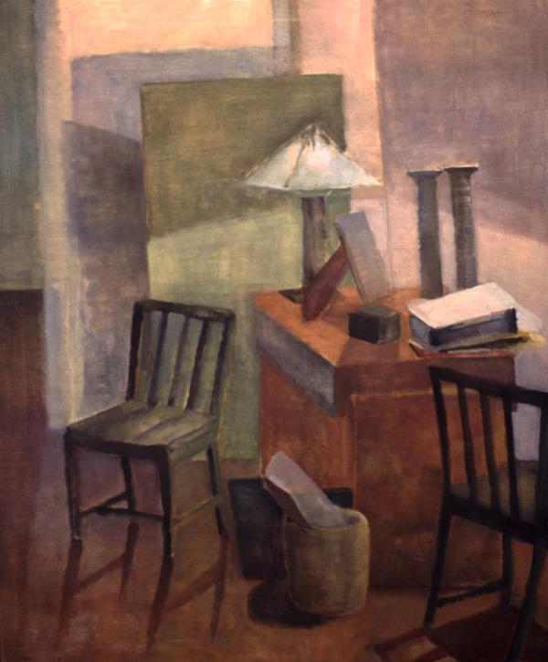 DESK LIGHT- oil on canvas- 48 x40- 1992