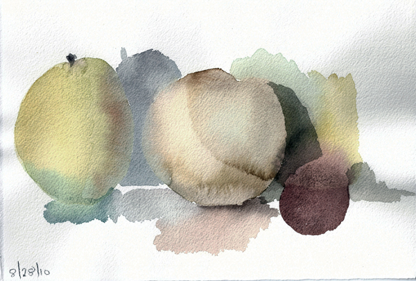 AUGUST 28 #1- watercolor- 7.5 x 11- 2011
