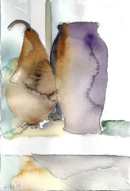 APRIL 24 #4-watercolor- 10 x 6.75- 2011