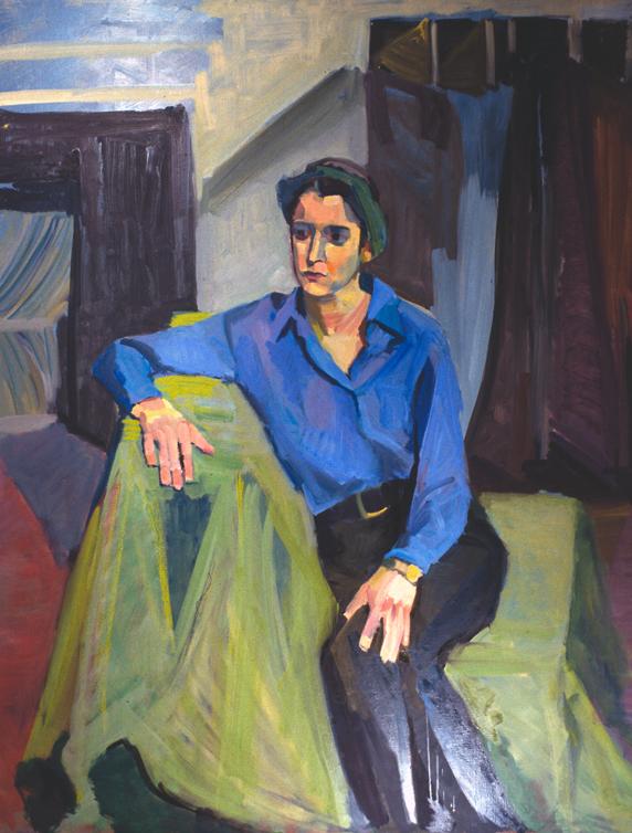 BLUE GIRL- oil on canvas- 60 x 48- 1995-