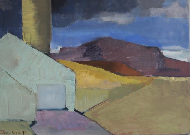 IRIDESCENT- oil on canvas- 16 x 22-1990