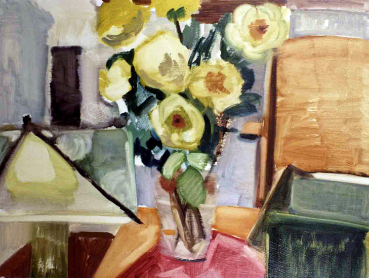 FULL BLOOMS- oil on canvas- 20 x 26- 1993