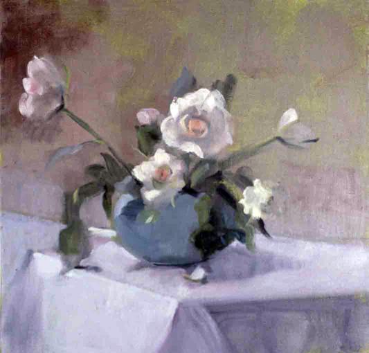 INNOCENCE- oil on canvas- 14 x 14- 1989