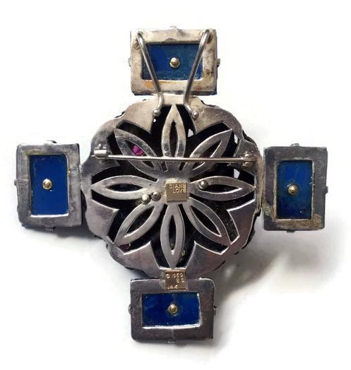 #69 MANJU NETSUKE, carved lapis lazuli, rubies, sapphires [back].jpg