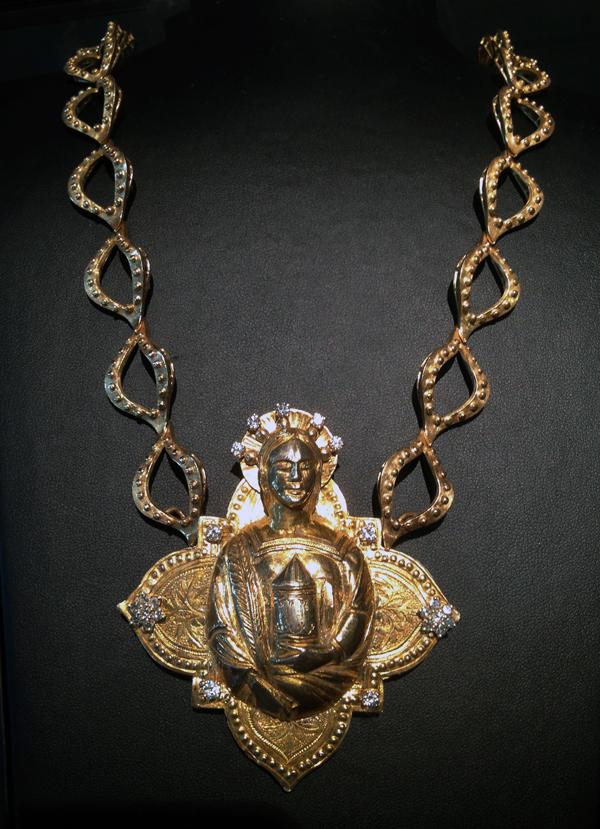 #152 ST. BARBARA GOTHIC APPLIQUE _ diamonds .jpg