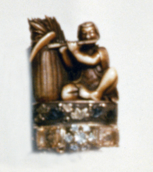 #103 FARMER NETSUKE _ FUCHI_  Ceylon saphires, diamonds .jpg