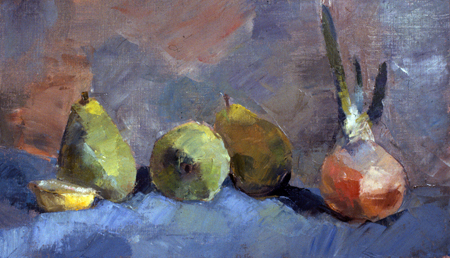SPROUTING- oil on canvas- 10 x 18- 1989