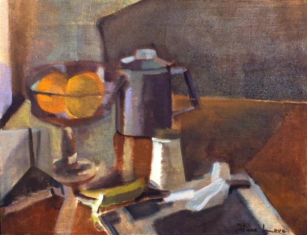 LOCAL NEWS- oil on canvas- 20 x26-1992