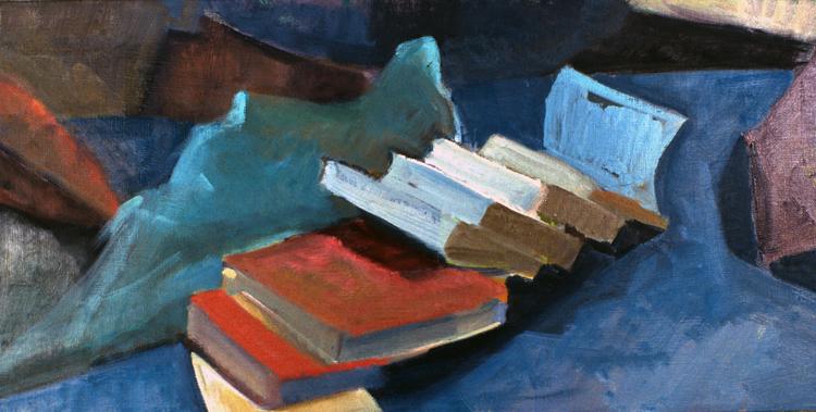 CASCADE- oil on canvas- 14 x 28- 1994