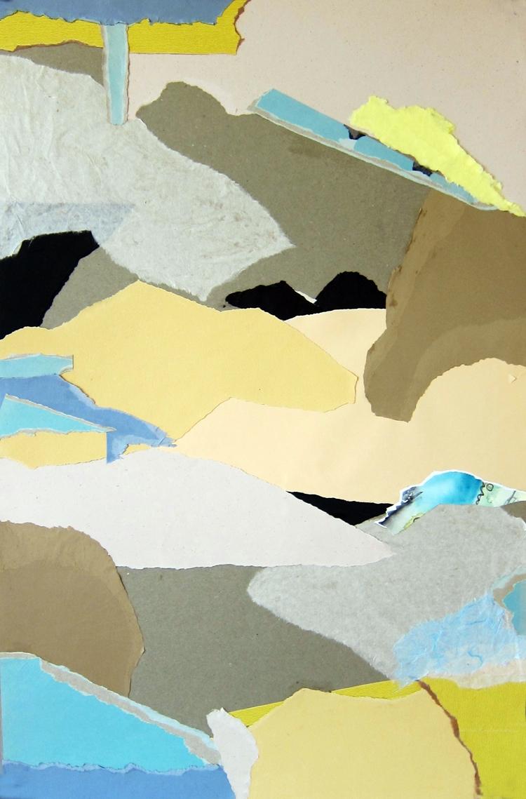 TIDAL BASIN- collage- 29.5 x 20- 2011