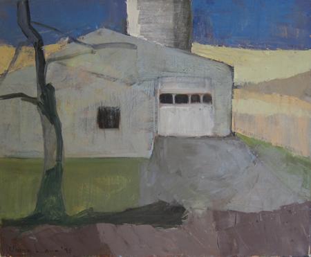 BARN DOOR- oil on canvas- 15 x 18- 1990