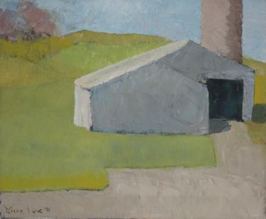 SPRING BARN-oil on canvas- 14 x17 - 1991