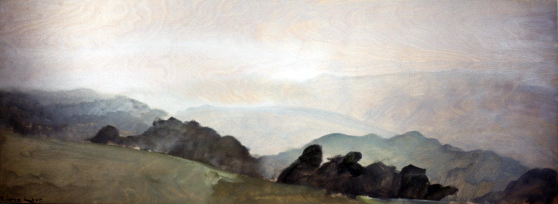 TACONIC RANGE- oil on panel- 18 x 48- 1990