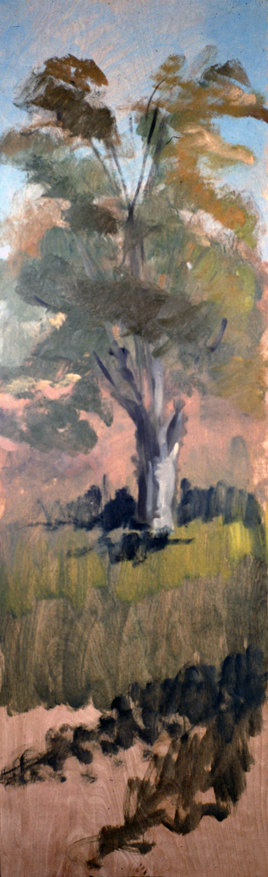 PALE FIRE- oil on panel- 48 x 12- 1990