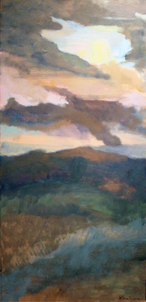 SKYSCAPE- oil on panel- 48 x 24- 1990