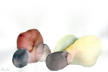 AUGUST 28 #2- watercolor- 6 x 9 -2011