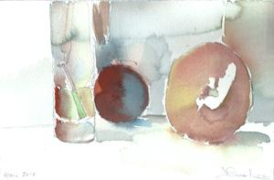STEM CLEMEMTINE- watercolor- 6x 9- 2011