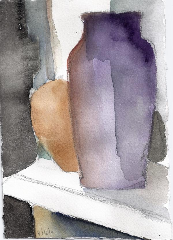 APRIL 16 #6- watercolor- 10 x 6.75- 2011
