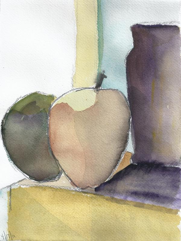 APRIL 7 #1- watercolor- 9 x 6- 2011